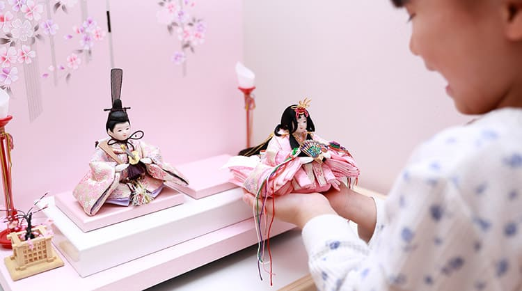 Japanese Dolls and Girl